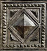 Metallic pattern on the doors — Stock Photo