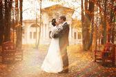 Familia joven, la boda, los recién casados — Foto de Stock