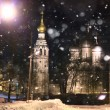 Old church in winter — Stock Photo
