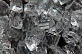 Shiny salt crystals, ice crystals — Stock Photo
