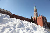 Drifts of snow on Red Square in Moscow, snow, storm — Stock Photo