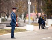 Répétition du défilé en russie — Photo