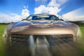 Car in motion blur speed — Stock Photo