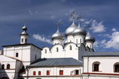 Orthodox Cathedral under summer sky — Stock Photo