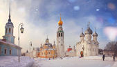 Vista de invierno de vologda — Foto de Stock