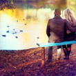 Man and woman in love — Stock Photo