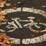 Asphalt bicycle city — Stock Photo #34884971