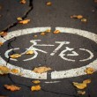 Fall bike path — Stock Photo