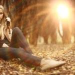 Beautiful blond girl — Stock Photo #34887285