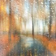 Stock Photo: Abstract blurred autumn landscape