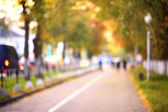 Autumn street in the city — Stock Photo