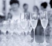 Glasses of champagne cocktail — ストック写真