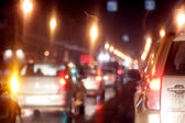Cars at night — Stock Photo