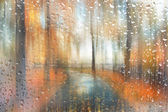Abstract blurred autumn landscape — Stock Photo