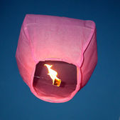 Red sky lanterns — Stock Photo