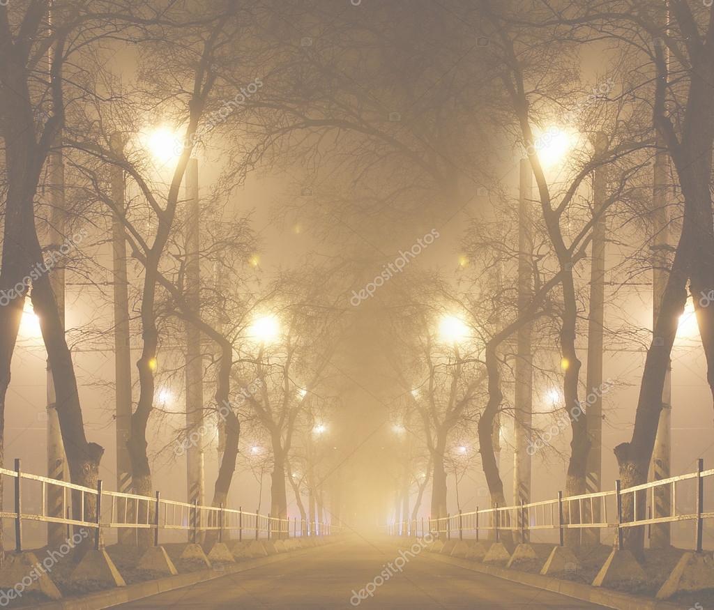Картинки осенний туман в городе