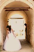 Novia y el novio en la boda — Foto de Stock