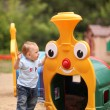 Little boy playing on the playground — Stock Photo #36344067