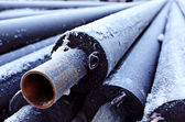 Sewer pipes — Stock Photo