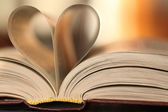 Book paper Heart — Stock fotografie