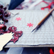 Christmas cards scrapbooking — Stock Photo
