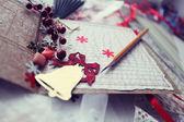 Christmas cards scrapbooking — Stock Photo