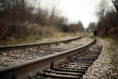 Railroad rails — Stock Photo