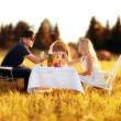 Lovers picnic — Stock Photo