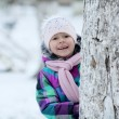 Girl near tree — Stock Photo #41327913
