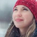 Woman in wintertime — Stock Photo