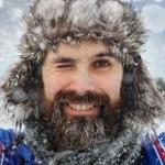 Wink Bearded man — Stock Photo #41335899
