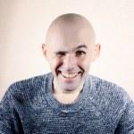 Wink bald man — Stock Photo
