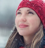 Woman in wintertime — Stock Photo