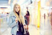 Girl in shop — Foto de Stock