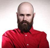 Brutal man with beard — Stock Photo