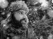 Bearded man in hat — Stock Photo