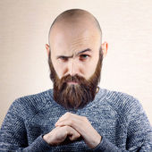 Wink man with beard — Stock Photo