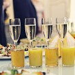 Restaurant serving juice and champagne — Stock Photo #47588867