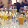 Restaurant serving juice and champagne — Stock Photo #47588919