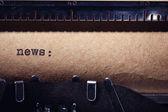 News-Inschrift — Stockfoto
