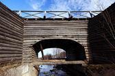 Drewniany most — Zdjęcie stockowe