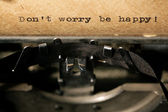 Inscription on a typewriter — Stock Photo
