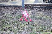 Toy baby stroller — Stockfoto