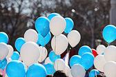 Blue  balloons — Stock Photo