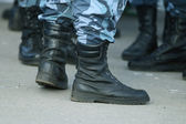Soldiers boots — Stock Photo