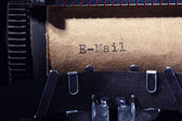 Vintage inscription made by typewriter — Stockfoto