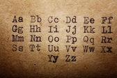Alfabeto latino — Foto de Stock