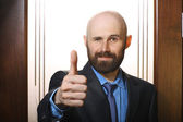 Man showing thumb up — Stock Photo