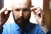 Bald Bearded man — Stock Photo