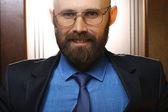 Happy bearded man — Stock Photo